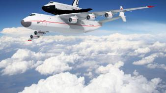 Aircraft antonov an-225 buran shuttle ukrainian russian wallpaper