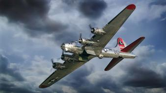 Aircraft military b-17 flying fortress boeing wallpaper