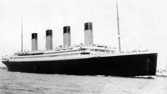 And white old ships titanic usa past wallpaper