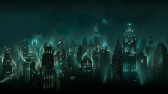 Bioshock night rapture cities game Wallpaper
