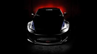Black cars tuning nissan 370z wallpaper