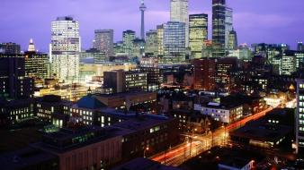 Buildings canada toronto city lights cities night Wallpaper