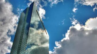Clouds landscapes nature tower buildings skies Wallpaper