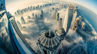 Clouds skyscrapers skyscapes viewscape Wallpaper