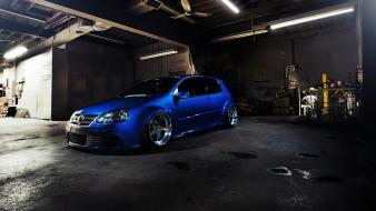 Dark night cars vehicles volkswagen garages golf r wallpaper