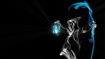 Death artistic smoke grim reapers black background wallpaper