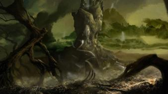Landscapes dark gothic fantasy art wallpaper