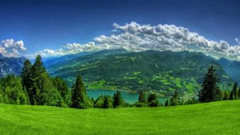 Landscapes nature trees hills wallpaper