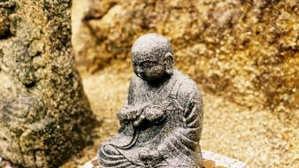 Money rock rocks buddha buddhism asia statues wallpaper