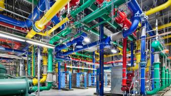 Multicolor google server data center colors wallpaper