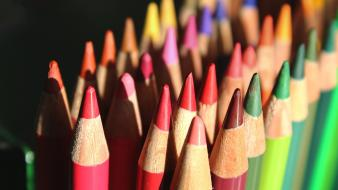 Multicolor macro pencils Wallpaper