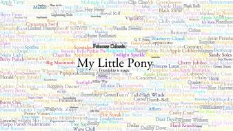 My little pony ponies pony: friendship is magic Wallpaper