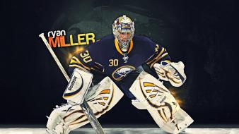 Nhl reebok buffalo sabres ryan miller goalkeeper wallpaper