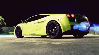 Night cars smoke lamborghini gallardo underground racing wallpaper