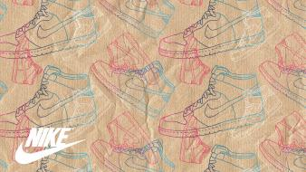 Paper shoes classic nike dunk high wallpaper