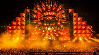 Party hardstyle stage q-dance mystery land 2012 wallpaper
