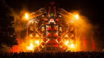 Party hardstyle stage q-dance tomorrowland 2012 wallpaper