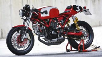 Racer ducati cafe motorbikes Wallpaper