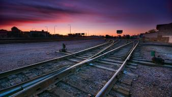 Railroad tracks railway wallpaper