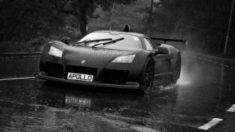 Rain cars gumpert apollo wallpaper