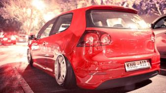 Red cars tuning wolksvagen wallpaper