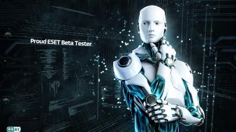 Robots technology bot modern think eset softwares wallpaper