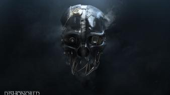 Skulls steampunk machines masks dishonored Wallpaper