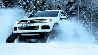 Snow ride volkswagen automotive snowareg Wallpaper