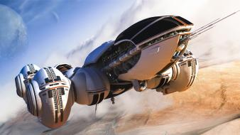 Spaceships science fiction vehicles 3d art game wallpaper