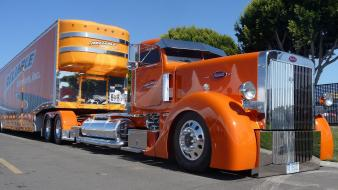 Trucks 18 wheeler peterbilt automotive Wallpaper