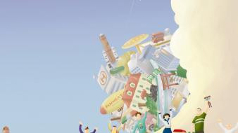 Video games katamari damacy game wallpaper