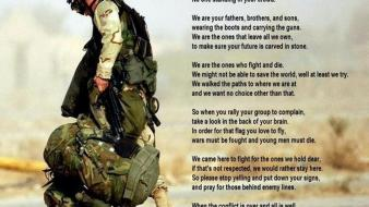 War soldier poem us army wallpaper