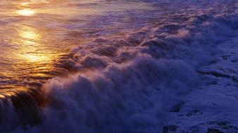 Water waves sunlight panorama seascapes wallpaper