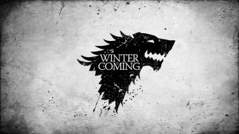 Winter is coming banner direwolf arms wolves wallpaper