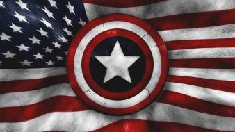 Abstract captain america american flag 3d wallpaper