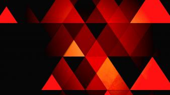 Abstract orange retro triangles wallpaper
