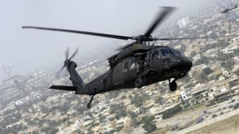 Aircraft helicopters air black hawk skies wallpaper