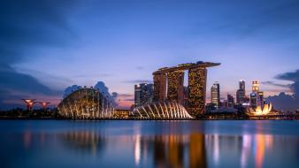 Architecture urban singapore marina bay sands Wallpaper