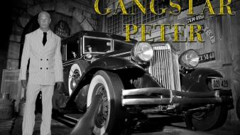 Black and white old cars gangster peter wallpaper