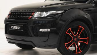 Black front range rover evoque startech wallpaper