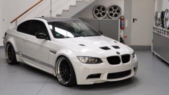 Bmw e92 front view m3 gts garage wallpaper