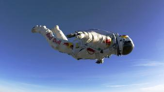 Bull skydiving felix baumgartner free fall stratos wallpaper