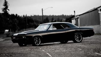 Cars muscle roads chevrolet chevelle ss black classic wallpaper
