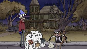 Cartoon network halloween regular show wallpaper