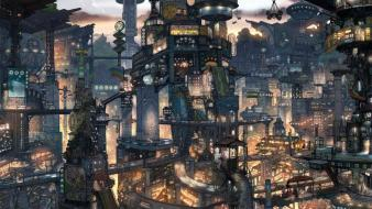 Cityscapes futuristic japanese neo tokyo future cities wallpaper
