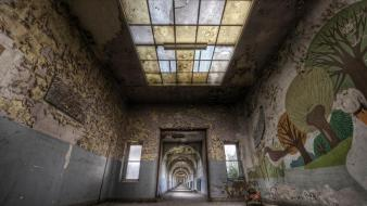 Cityscapes school europe belgium abandoned wallpaper