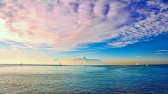 Clouds boats seascapes skyscapes wallpaper