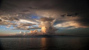 Clouds nature skyscapes sea Wallpaper