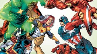 Comics spider-man captain america marvel thunderbolts sentry wallpaper