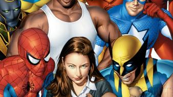 Comics spider-man wolverine marvel new avengers luke cage wallpaper